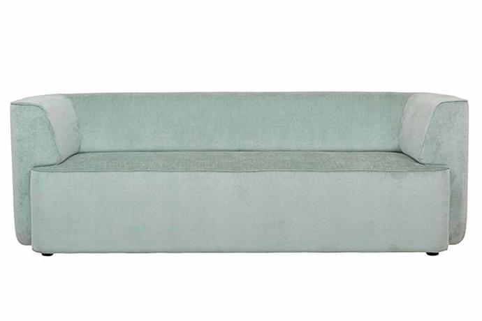 "Juno Boris three-seater sofa, $2645, [Globe West](https://www.globewest.com.au/collection/juno/juno-boris-3-seater-sofa|target=""_blank""|rel=""nofollow"")."