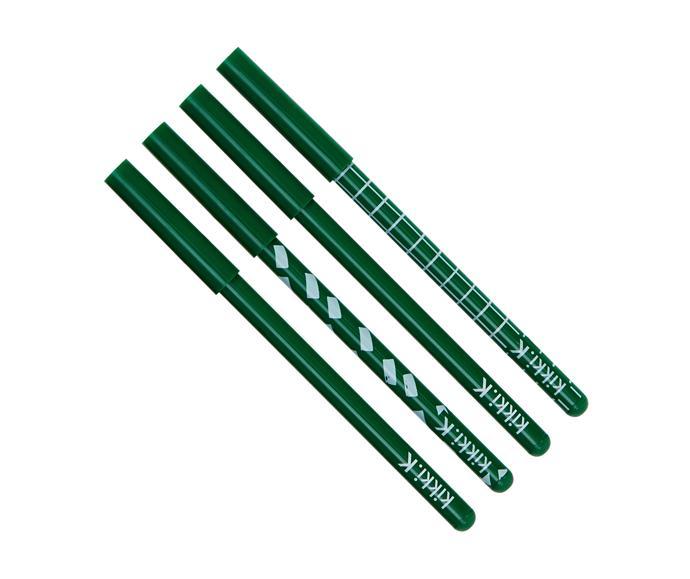 "Boldly You slim ballpoint pen, $5/4 pack, from [kikki.k](https://www.ki|target=""_blank""|rel=""nofollow"") kki-k.com/au/stationery/slim-ballpoint-pen-4pk-evergreen-boldly-you-11250902.html?cgid=stationery"