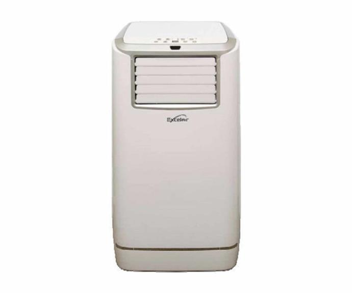 "Excelair portable air-conditioner, $699, [Bing Lee](https://www.binglee.com.au/excelair-4-7kw-portable-airconditioner-epa16a|target=""_blank""