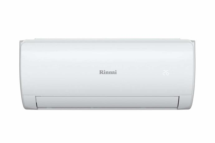 "Rinnai inverter split system reverse cycle air-conditioner, $595, [Harvey Norman](https://www.harveynorman.com.au/rinnai-2-5kw-inverter-split-system-reverse-cycle-air-conditioner.html|target=""_blank""