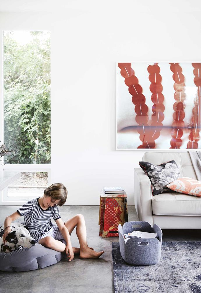 """It took time to work out what that was, though. While living in Melbourne, Sophie and James purchased a house in Hobart with amazing views overlooking the Derwent River. But after having two children, Louis and Jemima, they had outgrown the house and the couple wanted a flat [backyard](https://www.homestolove.com.au/how-to-landscape-your-backyard-3742