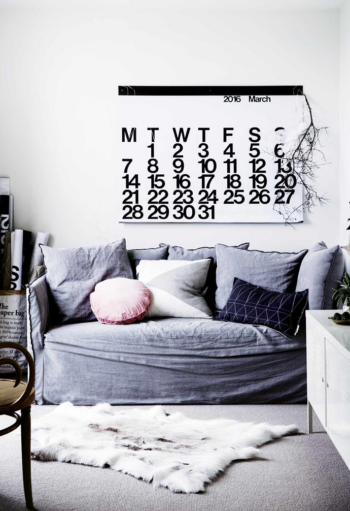 """Rainbow colours, however, are easy to remedy. Before moving in, Sophie and James [painted the interior white](https://www.homestolove.com.au/how-to-pick-the-right-white-paint-for-your-home-3741