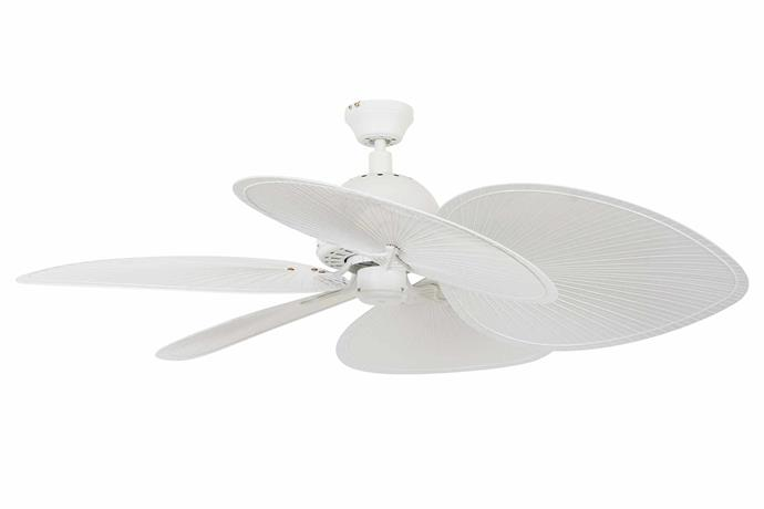"Tahitian 132cm 5-blade fan in Off White, $389, [Beacon Lighting](https://www.beaconlighting.com.au/|target=""_blank""