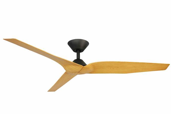 "Infinity DC 54-inch (137cm) 3-blade ceiling fan in Timber/Black, $439, [Universal Fans](https://www.universalfans.com.au/|target=""_blank""|rel=""nofollow"")."