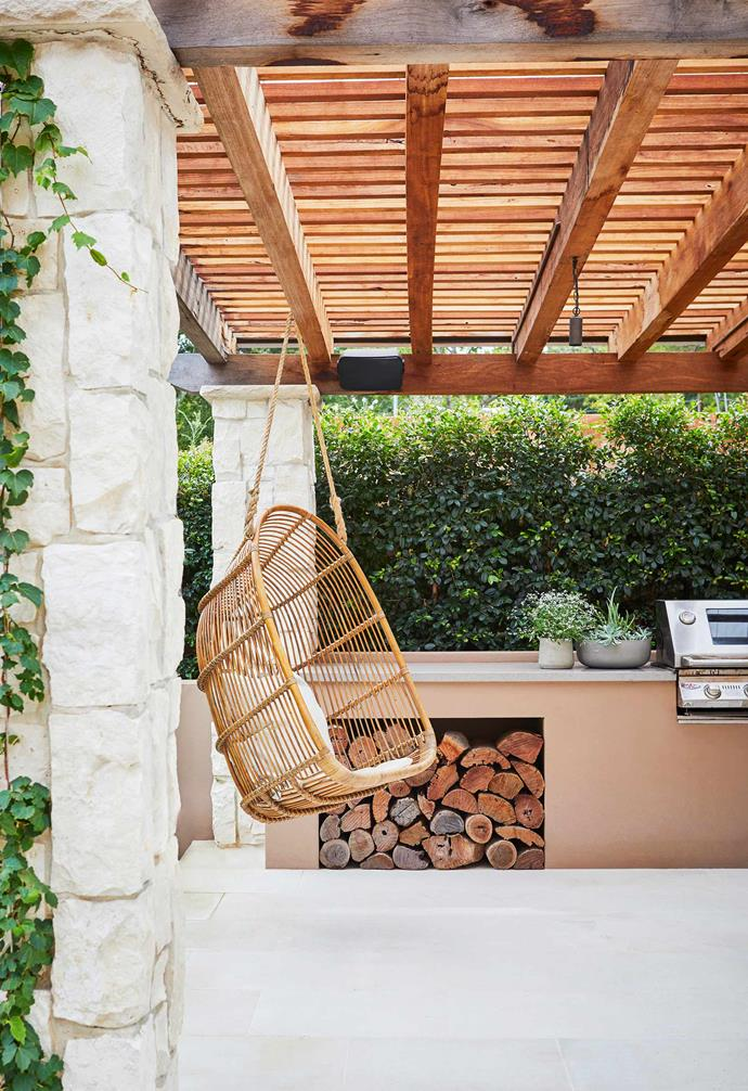 """**Spanish style** Top of the wishlist was shelter from the sun as their previous garden only had a fully exposed patio with a portable barbecue. The result is this hacienda- style pergola (installed by [Fifth Season Landscapes](https://www.5thseason.com.au/