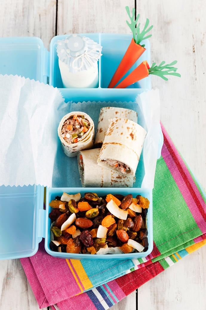Take the stress out of school lunches by making healthy snacks and freezing them so you've always got something on hand.