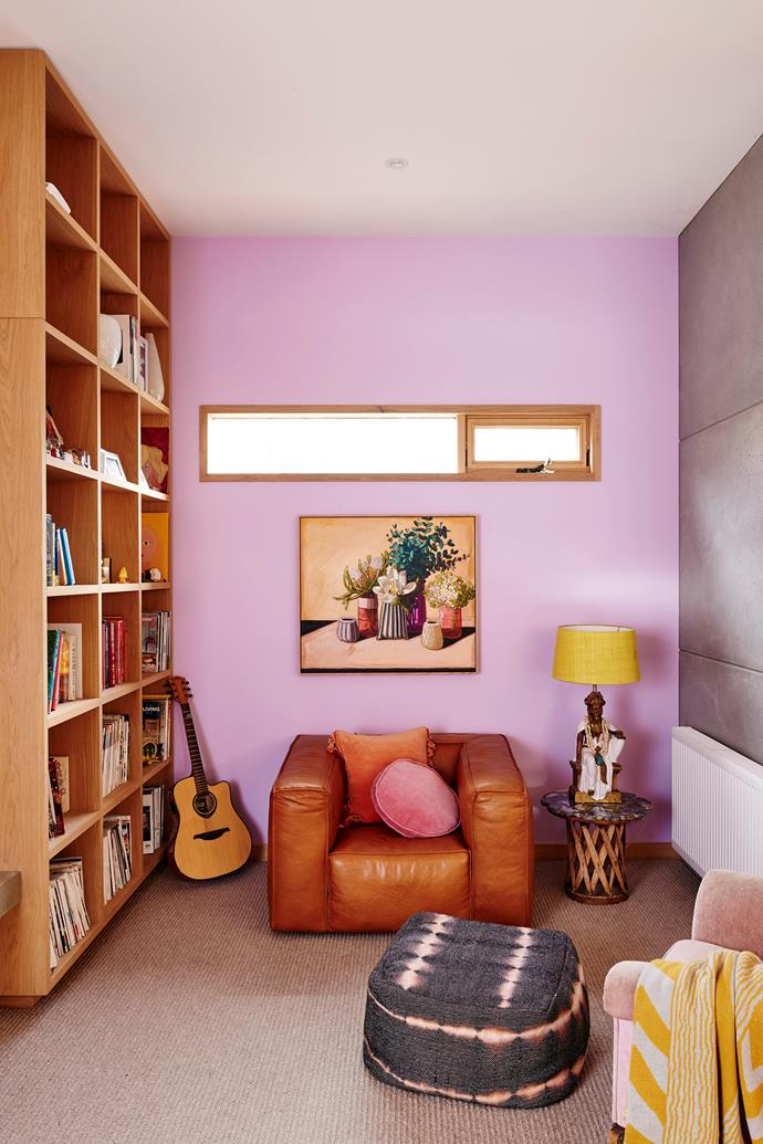 **Opt for floor-to-ceiling storage.** Make the most of the space you do have and opt for floor-to-ceiling shelving units and book cases. As well as doubling your storage, open shelves filled with books also makes for a unique feature wall.