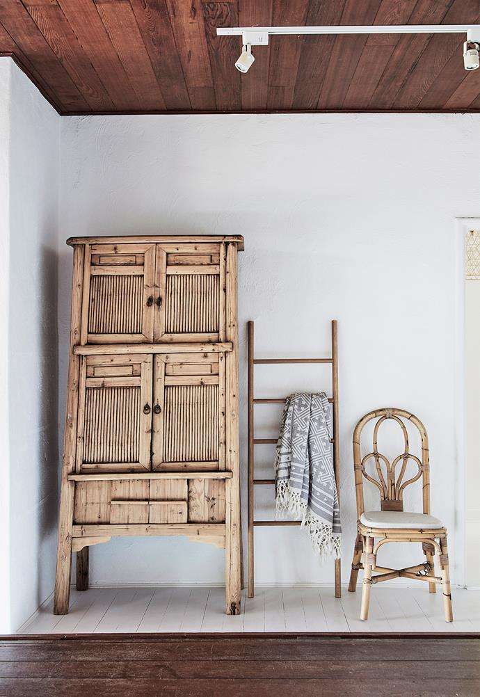 **Invest in a ladder.** Ladders are one of the most versatile small space saviours you'll ever come across. They work in every room, barely take up any floor space and you can lean them against or on top of existing storage options, too. Plus you can easily paint them to suit the style of your space.