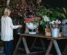The workspace of florist and calligrapher Aleksandra Keast