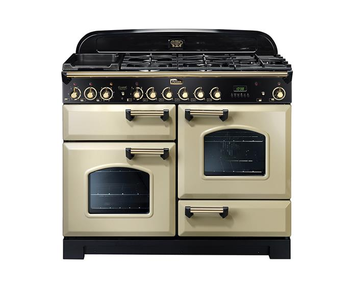 "Falcon Classic Deluxe Range Cooker, $10,594 at [Andi-Co Australia](https://www.andico.com.au/products/falcon/classic-deluxe-upright-cookers/dual-fuel-classic-deluxe-upright-cookers/classic-deluxe-110cm-dual-fuel-range-cooker-cdl110df/|target=""_blank""
