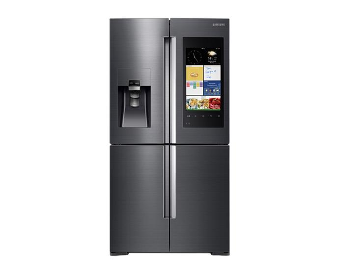 "Samsung Family Hub Fridge, $4275 at [Winning Appliances](https://www.winningappliances.com.au/p/samsung-671l-family-hub-french-door-fridge-srf671bfh2|target=""_blank""
