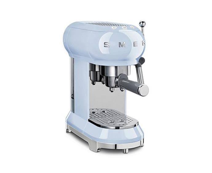 "Smeg Espresso Coffee Machine, $499 at [David Jones](https://www.davidjones.com/Product/21055422/ECF01PBAU-Pump-Espresso-Coffee-Machine-Pastel-Blue|target=""_blank""