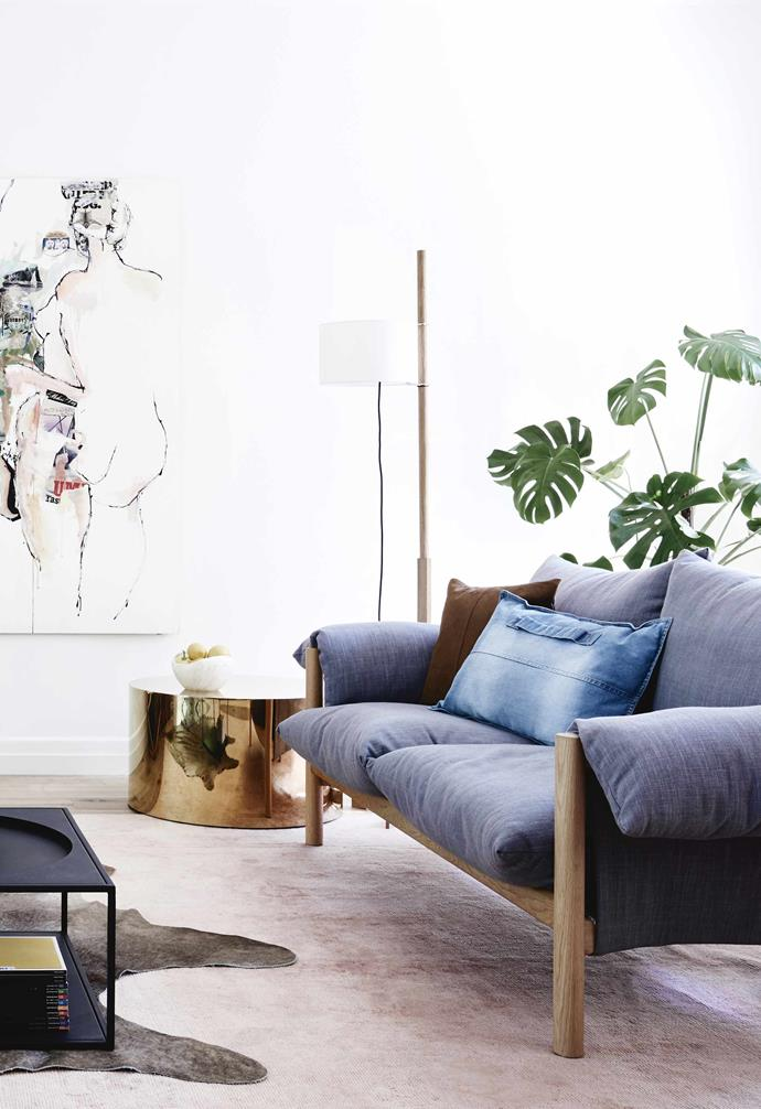 """**Living area** The Wilfred sofa from [Jardan](https://www.jardan.com.au/