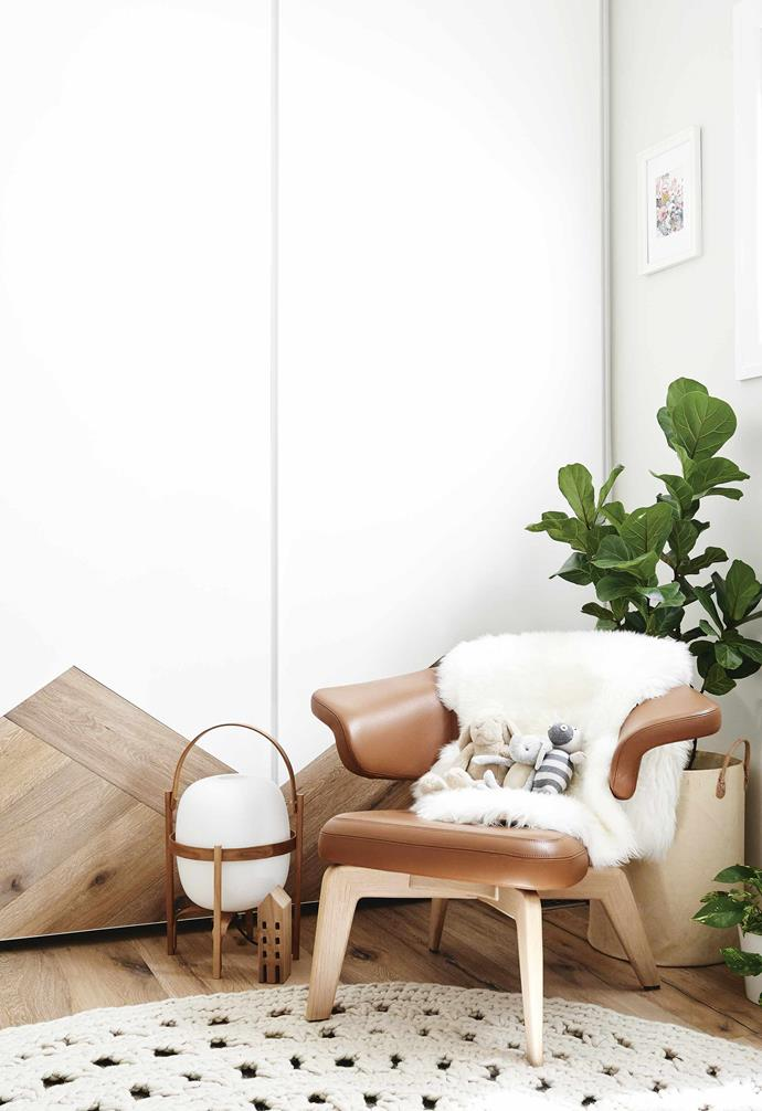 """**Nursery** A Classicon 'Munich' lounge chair from [Anibou](https://www.anibou.com.au/