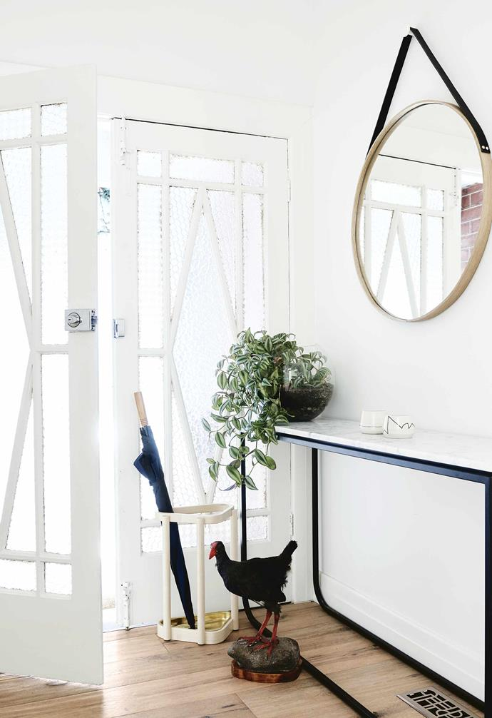 """**Entry** Pale timber creates a light, bright mood. The refined [Grazia & Co](https://graziaandco.com.au/