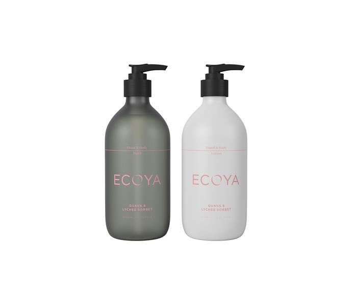 "Sweet Pea & Jasmine Hand and Body Wash + Hand & Body Lotion, $24.95 each, [Ecoya](https://www.ecoya.com.au/collections/bodycare/products/sweet-pea-jasmine-hand-and-body-wash|target=""_blank""|rel=""nofollow"")"