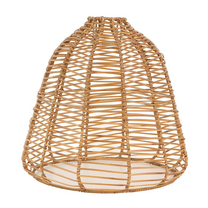 """[Clip-on pendant shade in Natural, $20](https://www.kmart.com.au/product/clip-on-pendant-shade-natural/2836346