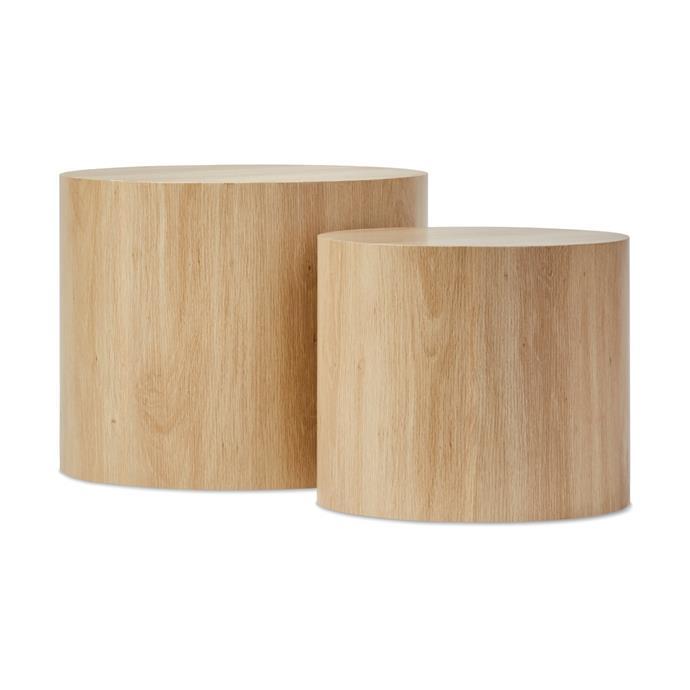 "[Oak-look tables, $49/ set of 2](https://www.kmart.com.au/product/set-of-2-oak-look-tables/2831311|target=""_blank""|rel=""nofollow"")"