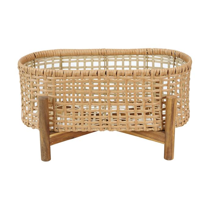 """[Woven plant stand, $19](https://www.kmart.com.au/product/woven-plant-stand/2868304