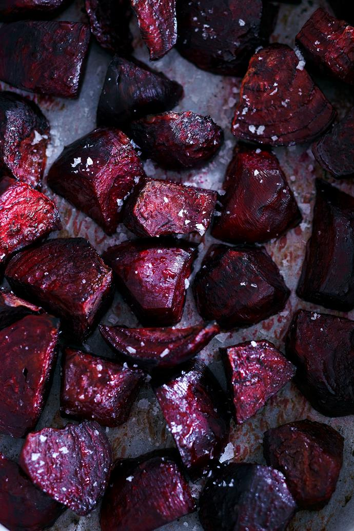 Use roast beetroot as a tart topping, in salads or in an old-fashioned hamburger.