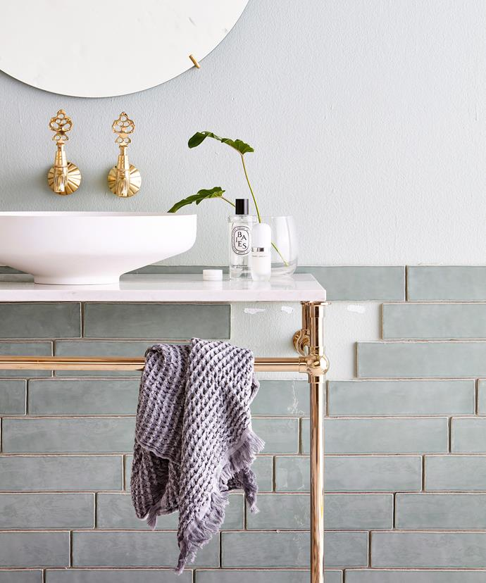 Small details like beautiful brass tapware, luxurious towels and even fancy hand soap can make a huge difference to the look and feel of the space.