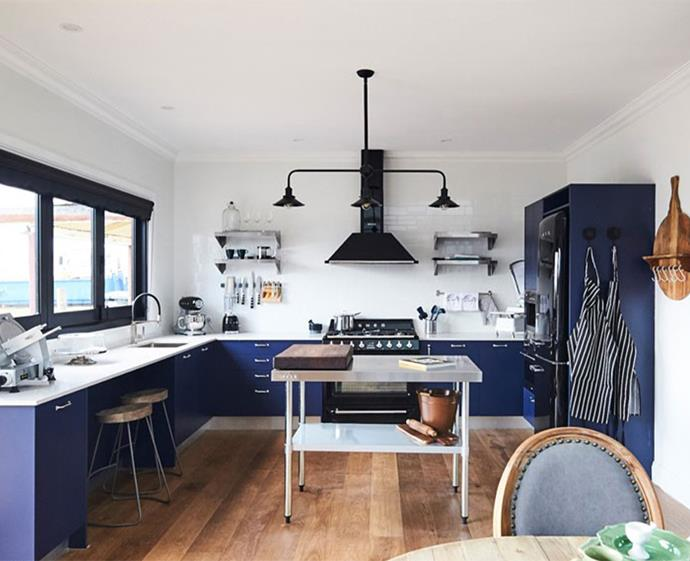 Classic blue is the new kitchen neutral. *Photo: supplied*