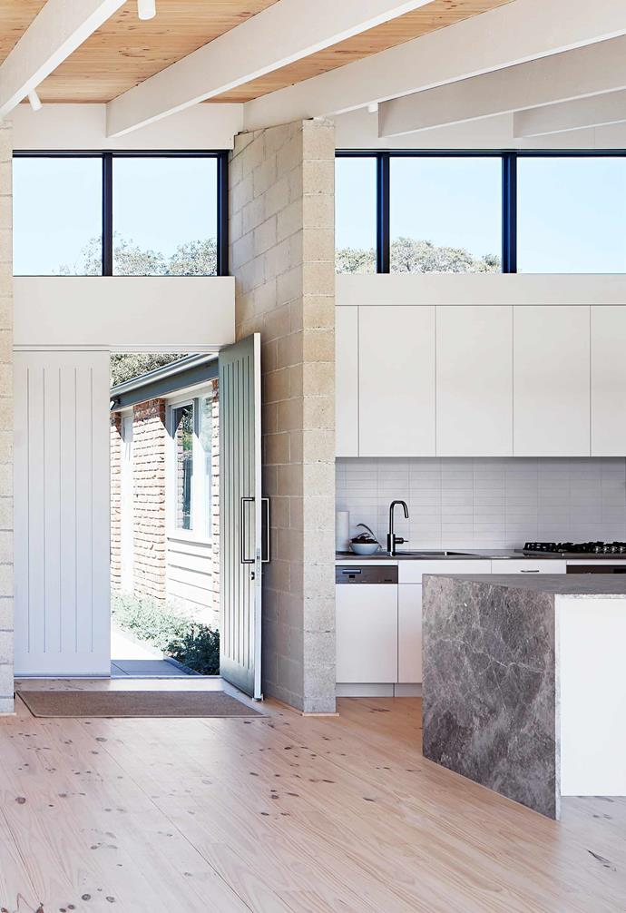 """**Entryway** A double front door painted [Dulux](https://www.dulux.com.au/