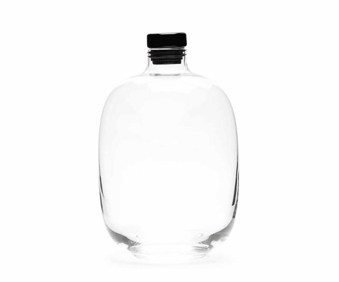 """Nude Glass whisky decanter, $345 for set including two glasses and a bowl, [Becker Minty](https://www.beckerminty.com/malt-whiskey-set-decanter-2-tumblers-and-a-bowl.html