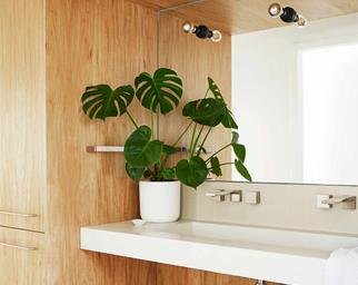 mid century modern style bathroom
