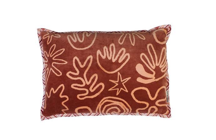 "Sage x Clare Terni velvet cushion, $159, at [Greenhouse Interiors](https://greenhouseinteriors.com.au/collections/cushions/products/terni-velvet-cushion|target=""_blank""|rel=""nofollow"")"