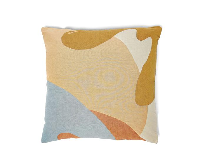 """Viso Project tapestry logo-jacquard cushion, $181, from [Matchesfashion.com](https://www.matchesfashion.com/au/products/Viso-Project-Tapestry-logo-jacquard-cushion-1294018 target=""""_blank"""" rel=""""nofollow"""")"""
