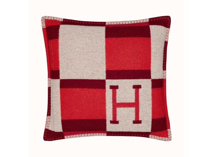 "Avalon Bayadere cushion, $885, from [Hermès](https://www.hermes.com/au/en/product/avalon-bayadere-pillow-H102821Mv05/|target=""_blank""