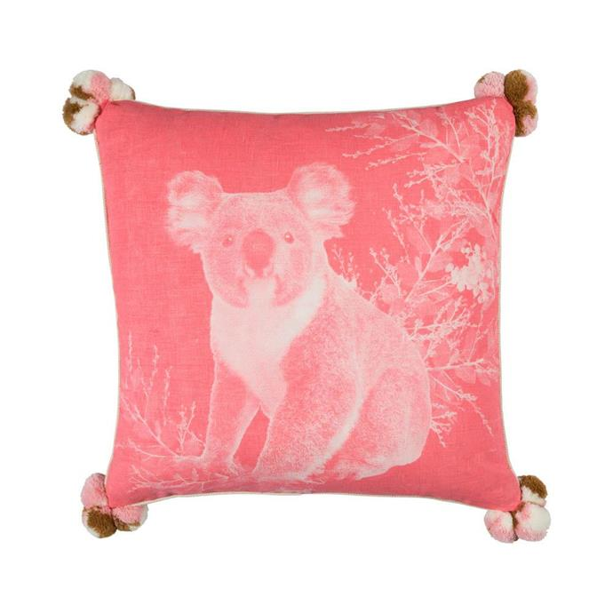 "Bonnie and Neil are donating 100% of online sales across their koala range to Wildlife Victoria to help Australian wildlife affected by the bushfires. Along with this gorgeous cushion, there are tea towels featuring the same print in a range of different colourways available.  <br><br> Koala Pink cushion, $165, [Bonnie and Neil](https://bonnieandneil.com.au/products/koala-pink-50cm-cushion|target=""_blank""