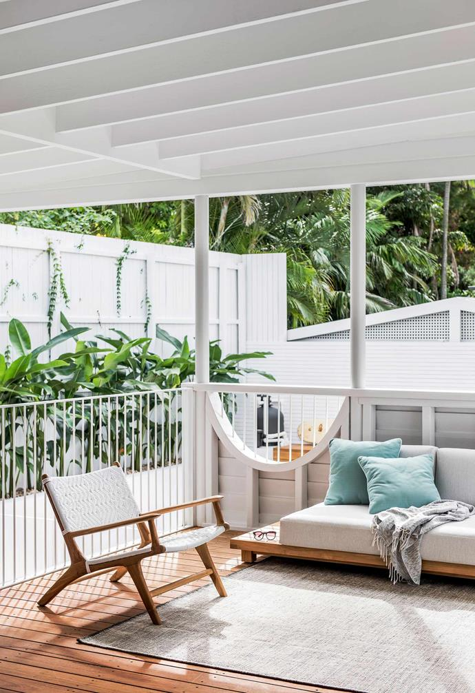 "**Back verandah** The Haven sofa from [GlobeWest](https://www.globewest.com.au/|target=""_blank""