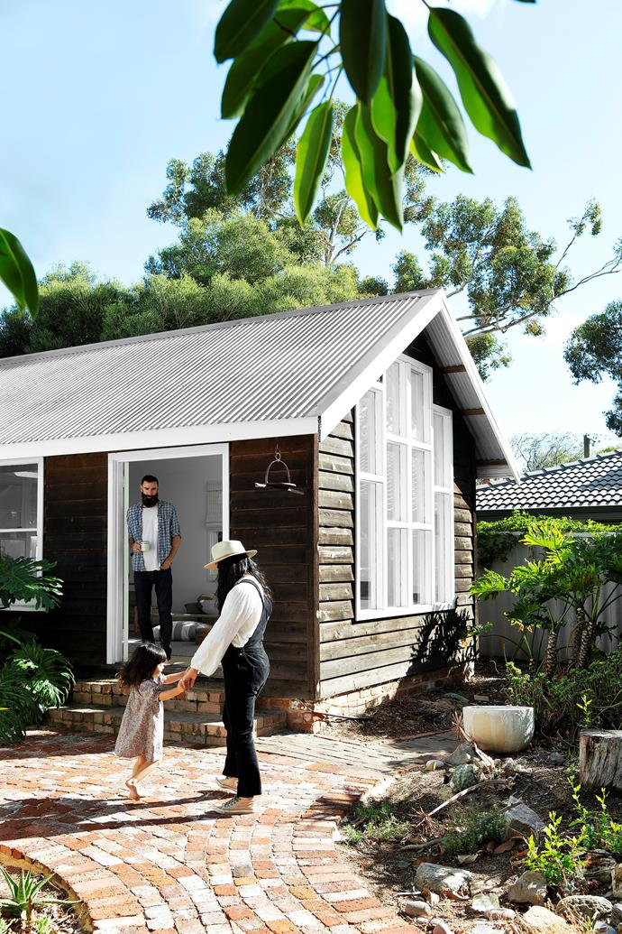 This creative family's Californian-style bunglow home has an art studio and guest house where like-minded folk are always welcome to stay.