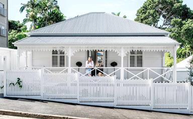 A worker's cottage in Paddington received an all-white refresh