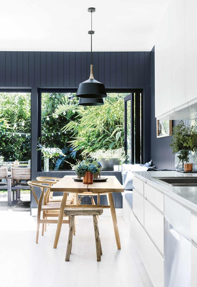 "Fortunately, the home had already been tastefully renovated by the previous owner so it was a case of ""buying off the shelf and happily moving straight in,"" says Alex.<br><br>**Kitchen** This kitchen, dining and living area opens out onto a [sunny timber deck](https://www.homestolove.com.au/balcony-and-deck-design-ideas-2458