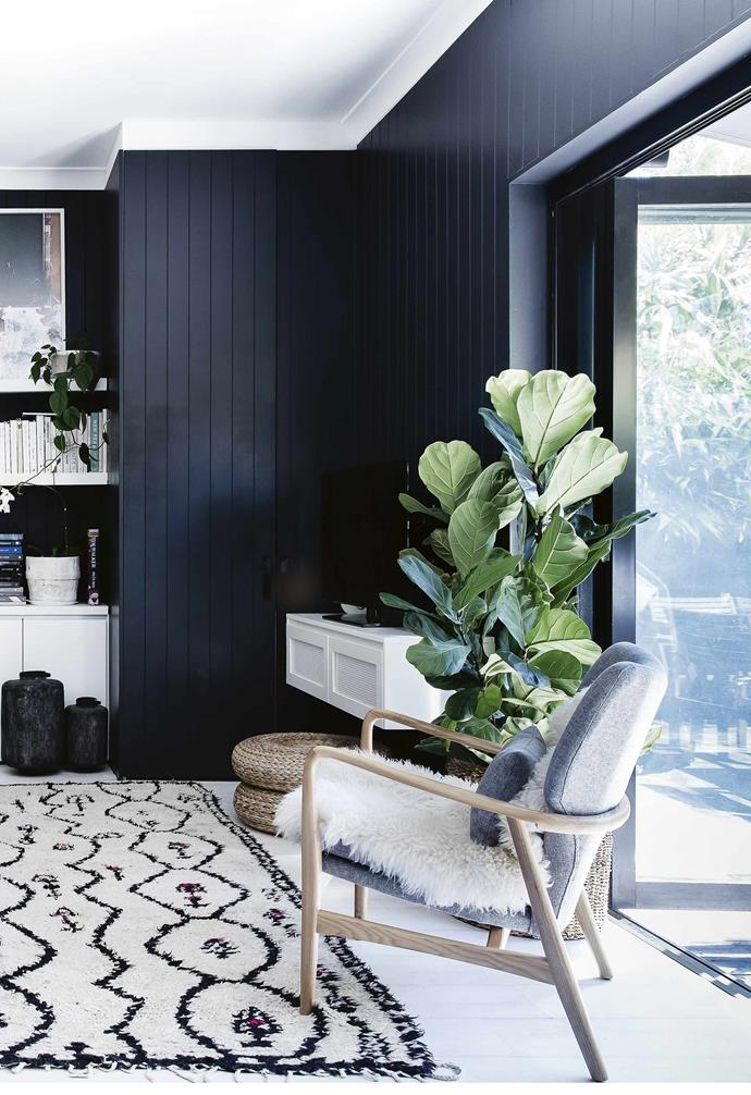 "**How would you describe your style?** <br><br>Pared-down, beachy and [bohemian](https://www.homestolove.com.au/modern-boho-homes-20226|target=""_blank""). We used to live in a house filled with trinkets and treasures but when we moved into this house, we loved the clean aesthetic, so we stashed a lot of stuff in the [attic](https://www.homestolove.com.au/attic-conversion-ideas-17682