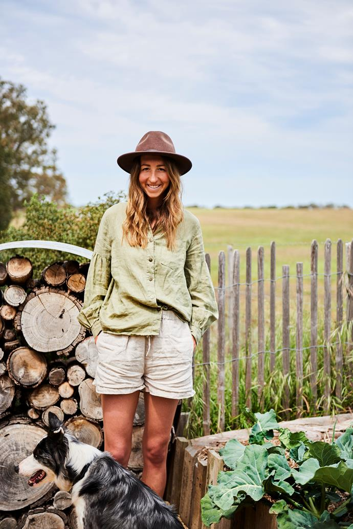 Hat, linen shorts and shirt are all from Harriet's concept store, Natural Harry.