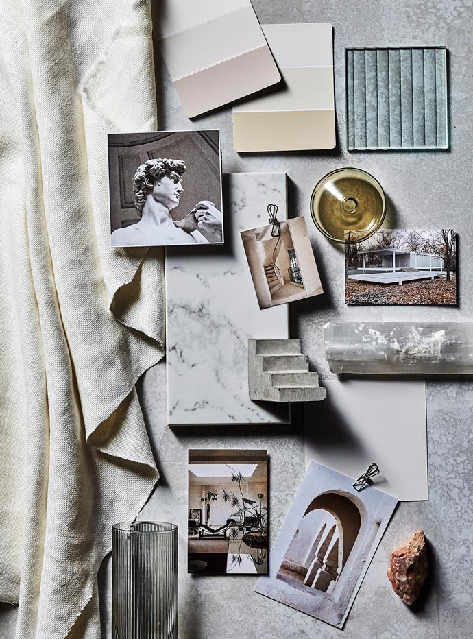 Collect photos, fabric samples and finishes to show your designer.