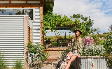 Harriet Birrell's tiny home on the south coast of Victoria