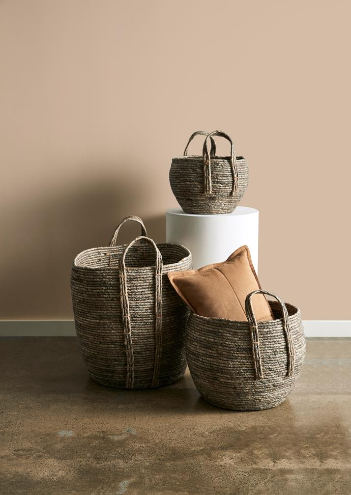 "[Maize leaf round baskets, from $15](https://www.target.com.au/p/maize-leaf-round-basket-small/62910224|target=""_blank""