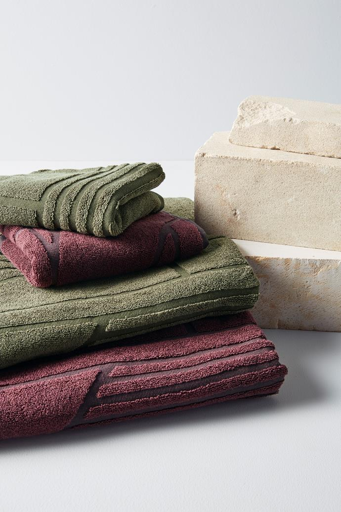 "[Thayer towel collection in Olive and Plum, from $10](https://www.target.com.au/p/thayer-towel-collection-olive/63142310|target=""_blank""
