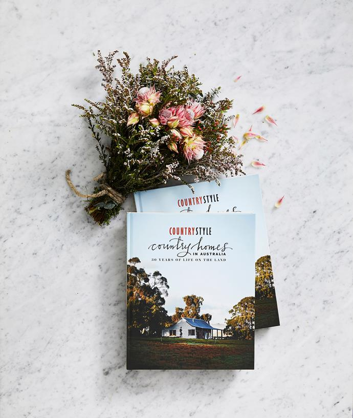 "*Country Homes in Australia – 30 Years of Life on the Land* is available where all good books are sold and at [bauerbooks.com.au](https://www.bauerbooks.com.au/Products/95861/30-years-of-country-style|target=""_blank"")"