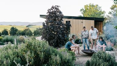 A landscape designer's water-wise garden with panoramic views of the Macedon Ranges