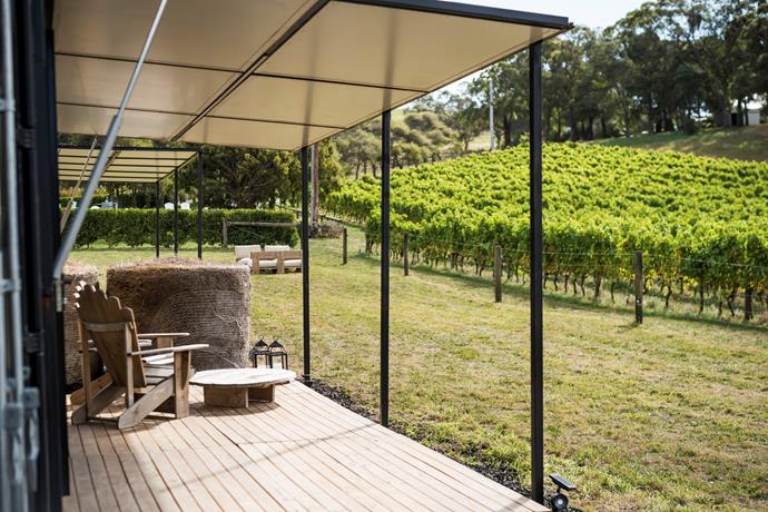 Vino on the deck of your off-grid stay? It doesn't get much better than this.
