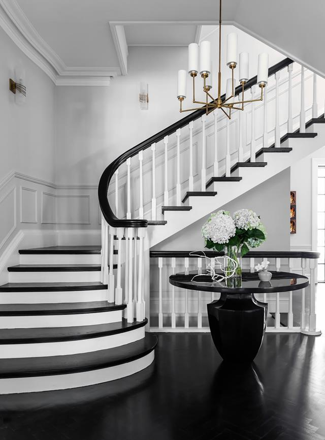 """The client loved the original panelling in the formal areas of their [Georgian-style home](https://www.homestolove.com.au/georgian-style-home-inspired-by-obamas-residence-21091