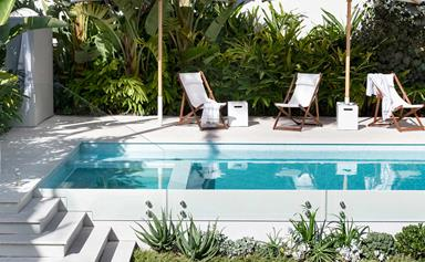 A resort inspired tropical garden is the perfect city escape