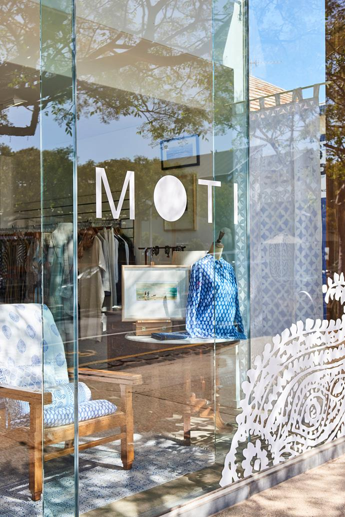 Moti's display front.