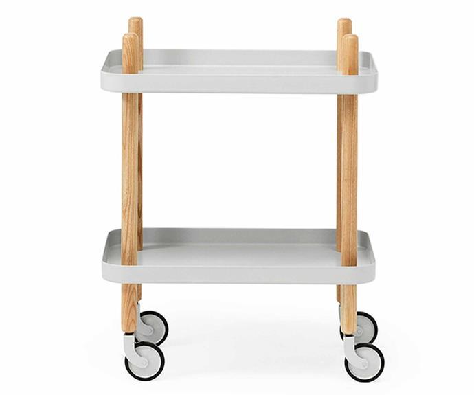 "Normann Copenhagen Block Table in Light Grey, $475, [Surrounding](https://surrounding.com.au/block-table-light-grey/|target=""_blank""|rel=""nofollow"")."
